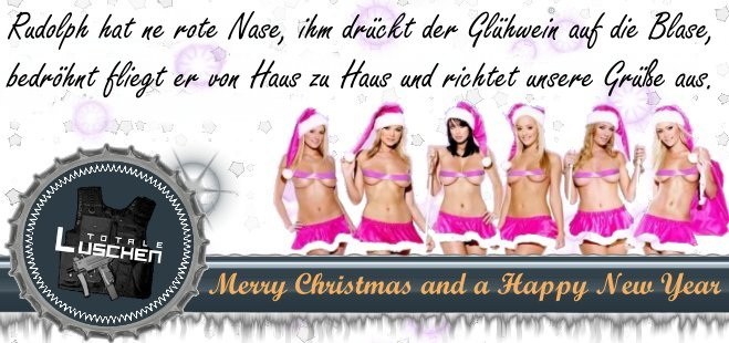 Merry Christmas And A Happy New Year Die Totalen Luschen News